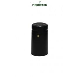 Schrumpfkapsel  30,5 x 55 mm schwarz matt mit Deckel, mit horizontal Abriss