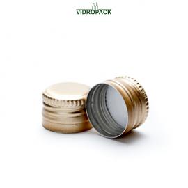 Aluminum pre-threaded screw cap PP18 (18x12mm) with security ring