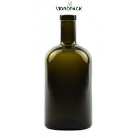 500 ml Apotheker antikgrüne mit Oberband Mündung