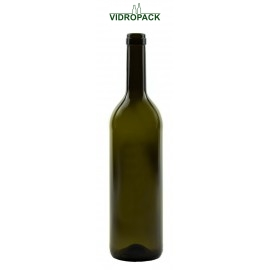 750 ml Bordeaux Classic antikgrüne Flasche mit Band Mündung