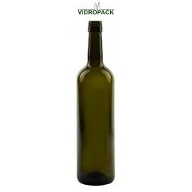 750 ml Bordeaux Classic antikgrüne Flasche mit Schraubverschluss BVS Mündung