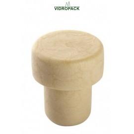 Griffkorken 12 mm syntetisch mit holz top (20x10mm)