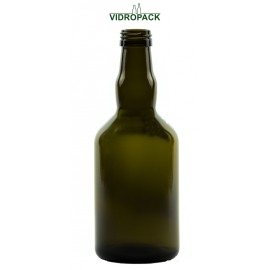 500 ml Whiskyflasche antikgrün mit Schraubverschluss Mündung