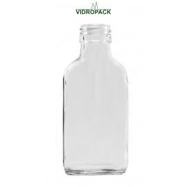 100 ml weiße Taschenflasche mit Schraubverschluss PP28 Mündung