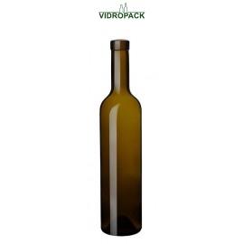 500 ml bordeaux vinova wine bottle Antik green cork finish