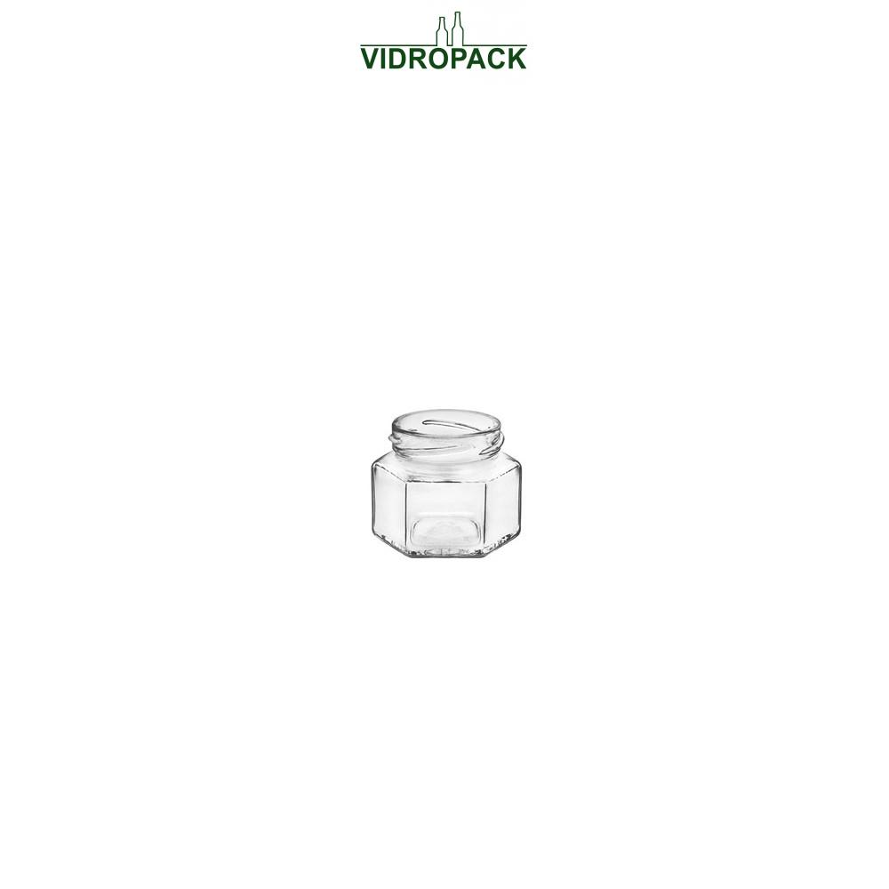 106 ml jar hexagonal flint twist off 53 finish