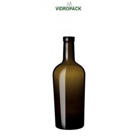 500 ml bordeaux regine olive/antik green glas bottle cork finish