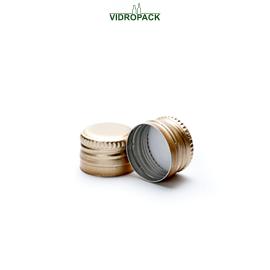 aluminum screw cap (ROPP) PP18 (18,7x12,2mm) standard gold