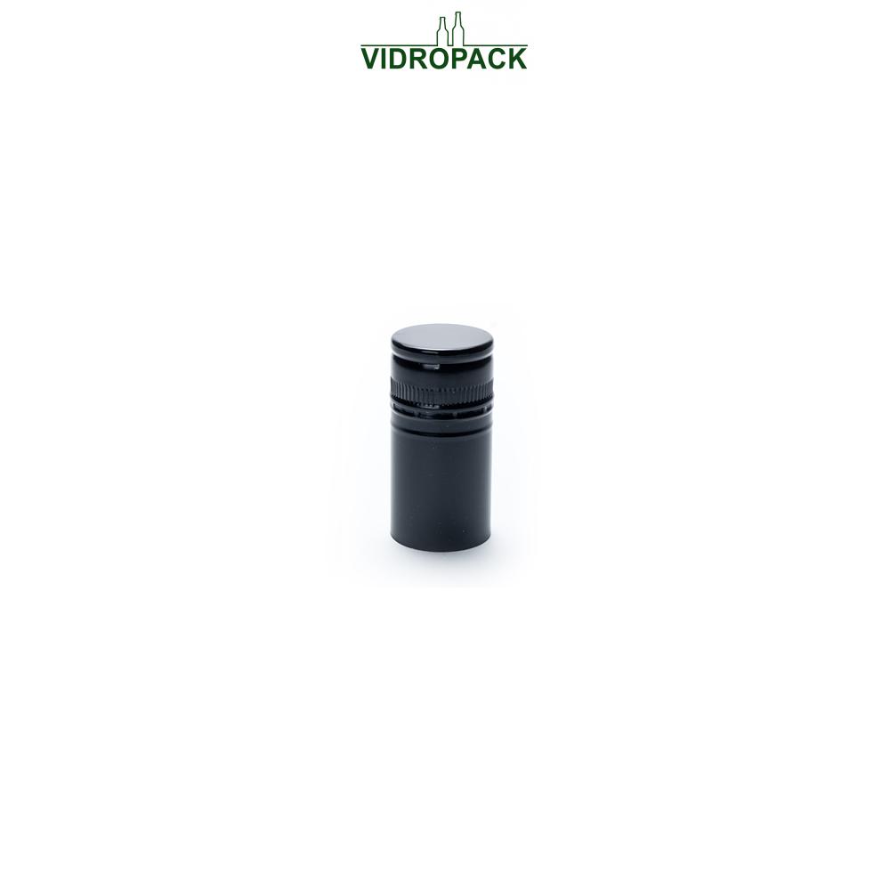 Aluminum pre-threaded screw cap BVS30H60 (30x60mm) black