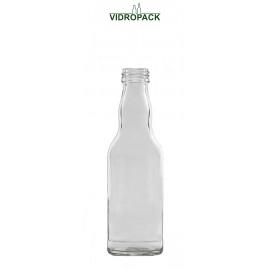 200 ml Kropfhals fles helder glas met schroefdop monding MCA 28mm