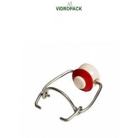 beugel porcelein med rode gummi pakking voor beugelflessen