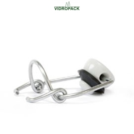 mechanical stopper porcelain with black sealing ring