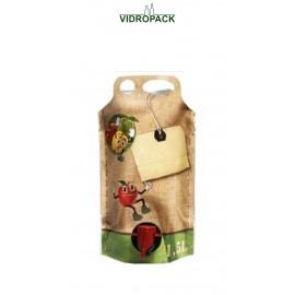 Bag-in-Box 1,5 Liter pouch-up zak (appel motief)