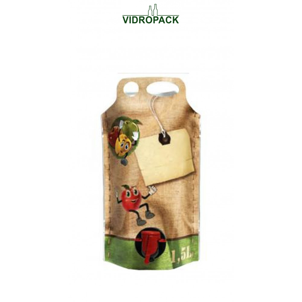 Bag-in-Box 1,5 Liter pouch-up (appel motive)