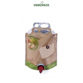 Bag-in-Box 3 Liter pouch-up zak (appel motief)