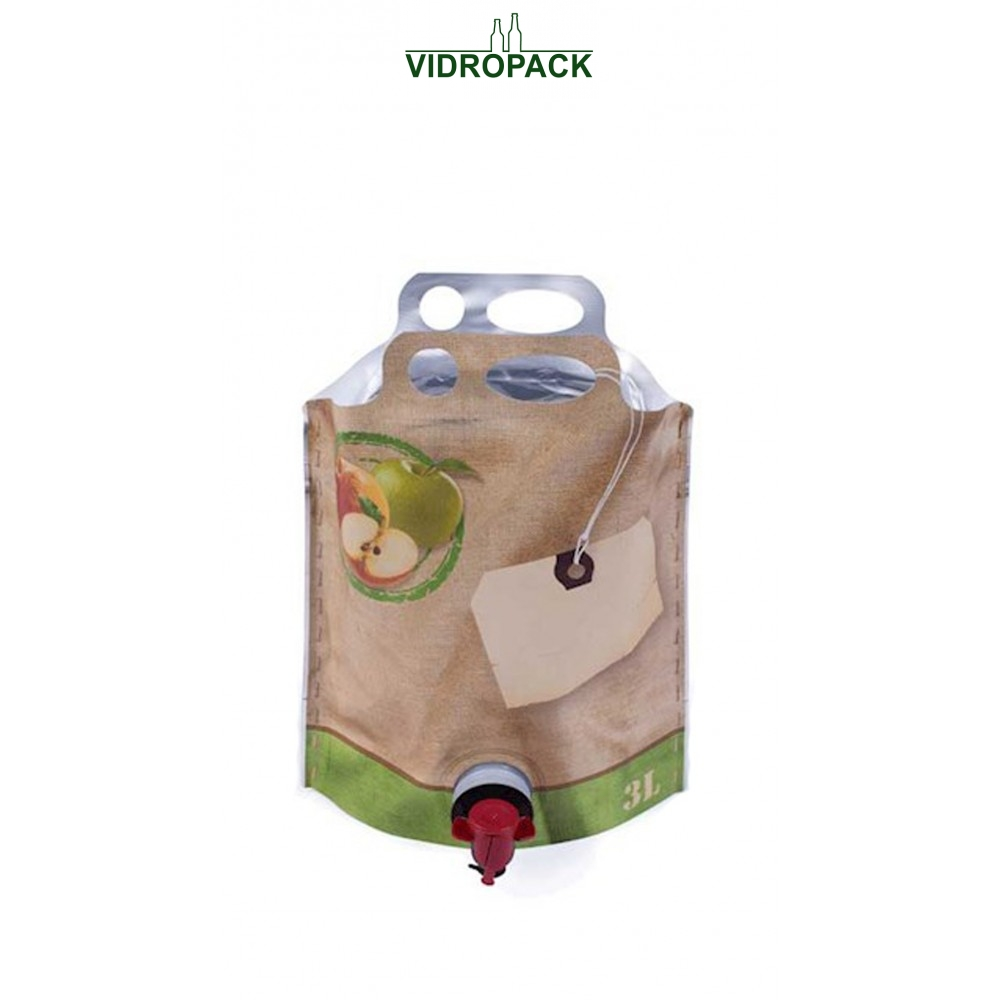 Bag-in-Box 3 Liter pouch-up (appel motive)