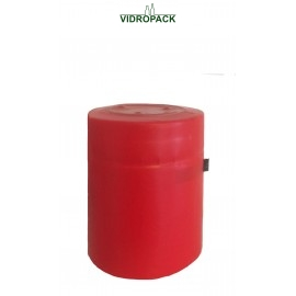 heat shrink capsules 36 x 43 mm red - closed top with horizontal tear-tab