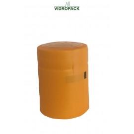 schrumpfkapsel  31,5 x 40 mm orange mit Deckel und horizontal Abriss