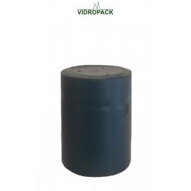 schrumpfkapsel  31,5 x 40 mm dunkel blau mit Deckel und horizontal Abriss