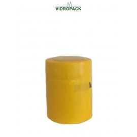 krimpcapsules 31,5 x 40 mm geel - gesloten met afscheurstrip