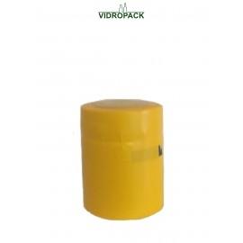 schrumpfkapsel  31,5 x 40 mm gelb mit Deckel und horizontal Abriss