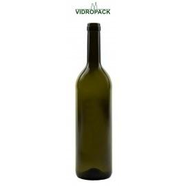 750 ml bordeaux classic vinflaske antikgrøn til prop eller t-prop BM munding