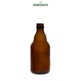 330 ml steinie beer bottle Brown crown cork finish 26mm