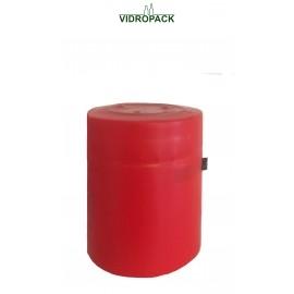 krympehætte 33 x 43 mm rød - lukket top med tear off / åbningsstrimmel