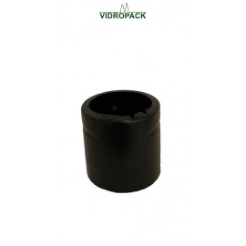 Heat shrink capsules 41 x 30 mm black open top - vertical perforation