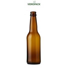 330 ml Longneck brown glass bottle crown cork 26mm finish (CC26)