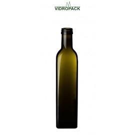 250 ml marasca olieflaske antikgrøn til 31,5mm skruelåg