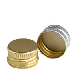 Aluminum pre-threaded screw cap PP22 (22x15mm) with security ring