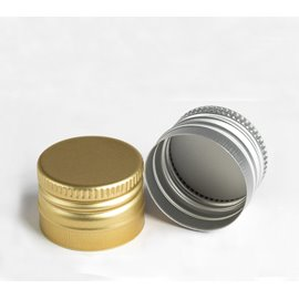 Aluminum pre-threaded  screw cap PP31,5 (31,5x24mm) without security ring