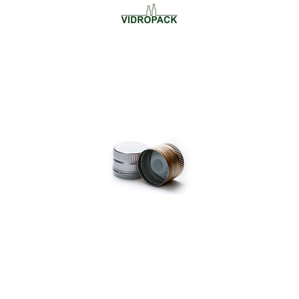 Aluminum screw cap (ROPP) PP31,5 (31,5x24mm) with plastic pourer gold